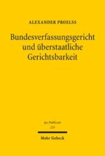 eBook Bundesverfassungsgericht und überstaatliche Gerichtsbarkeit Cover