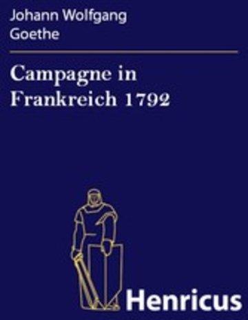 eBook Campagne in Frankreich 1792 Cover