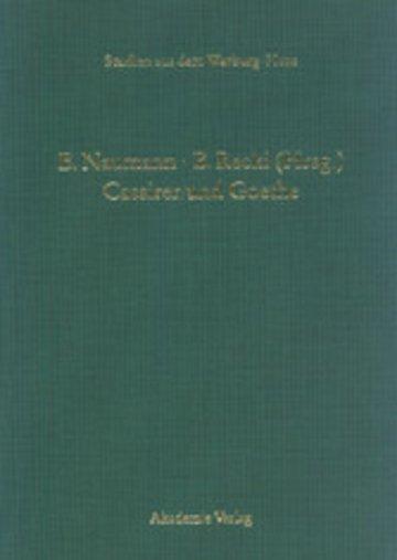 eBook Cassirer und Goethe Cover