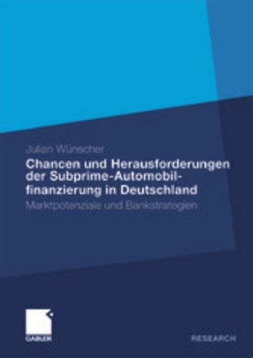 eBook Chancen und Herausforderungen der Subprime-Automobilfinanzierung in Deutschland Cover