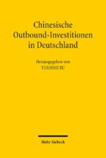 eBook Chinesische Outbound-Investitionen in Deutschland Cover