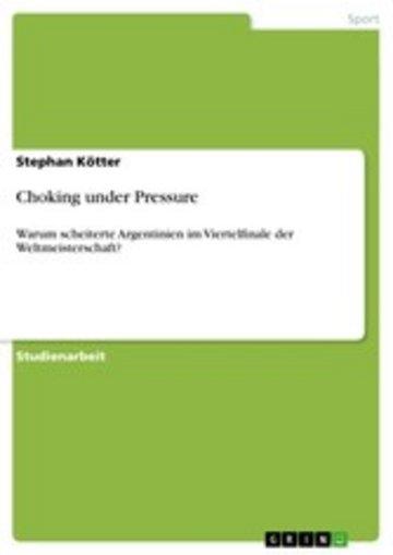 eBook Choking under Pressure Cover