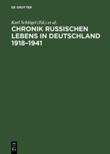 eBook Chronik russischen Lebens in Deutschland 1918-1941 Cover