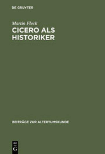 eBook Cicero als Historiker Cover