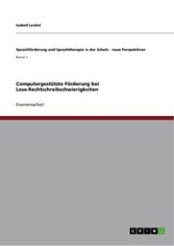 eBook Computergestützte Förderung bei Lese-Rechtschreibschwierigkeiten Cover