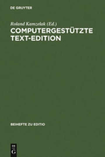 eBook Computergestützte Text-Edition Cover
