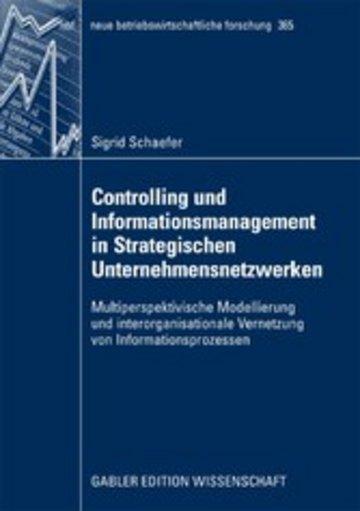 eBook Controlling und Informationsmanagement in Strategischen Unternehmensnetzwerken Cover