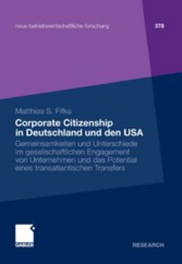 eBook Corporate Citizenship in Deutschland und den USA Cover