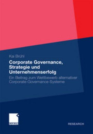 eBook Corporate Governance, Strategie und Unternehmenserfolg Cover