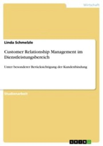 eBook Customer Relationship Management im Dienstleistungsbereich Cover