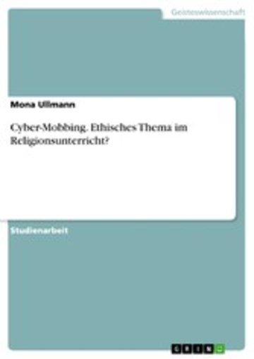 eBook Cyber-Mobbing. Ethisches Thema im Religionsunterricht? Cover