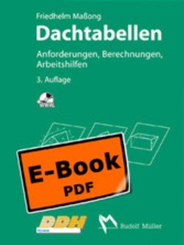 eBook Dachtabellen - Anforderungen, Berechnungen, Arbeitshilfen Cover