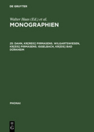 eBook Dahn, Kr[reis] Pirmasens. Wilgartswiesen, Kr[eis] Pirmasens. Iggelbach, Kr[eis] Bad Dürkheim Cover