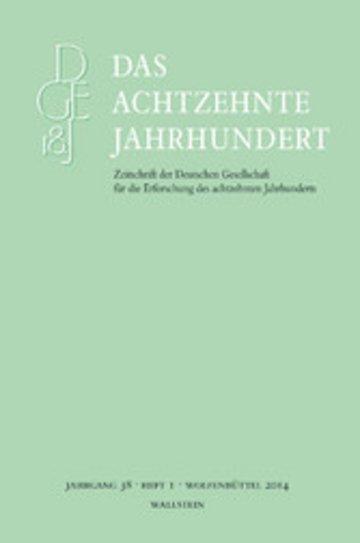 eBook Das achtzehnte Jahrhundert 38/1 Cover