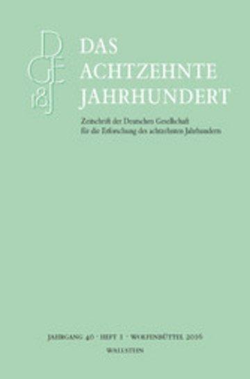eBook Das achtzehnte Jahrhundert 40/1 Cover