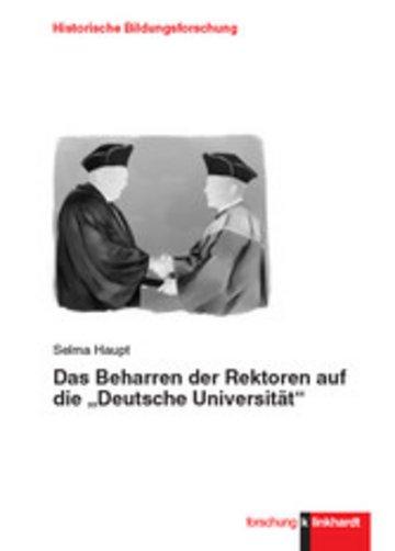 """eBook Das Beharren der Rektoren auf die """"Deutsche Universität"""" Cover"""