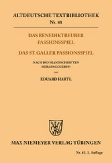 eBook Das Benediktbeurer Passionsspiel Cover