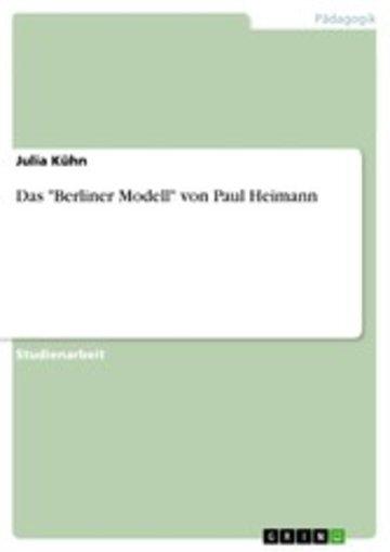 eBook Das 'Berliner Modell' von Paul Heimann Cover