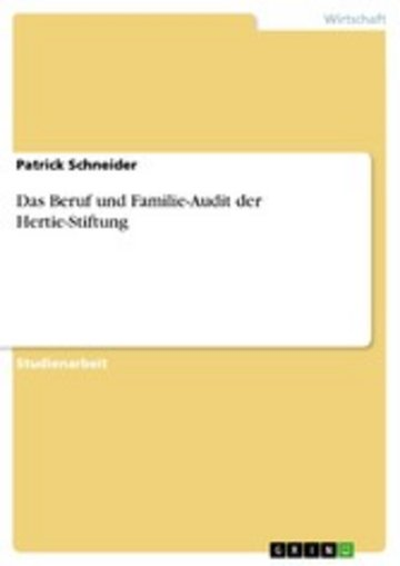 eBook Das Beruf und Familie-Audit der Hertie-Stiftung Cover