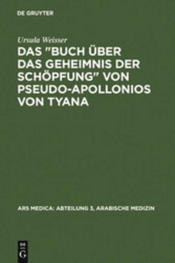eBook Das 'Buch über das Geheimnis der Schöpfung' von Pseudo-Apollonios von Tyana Cover