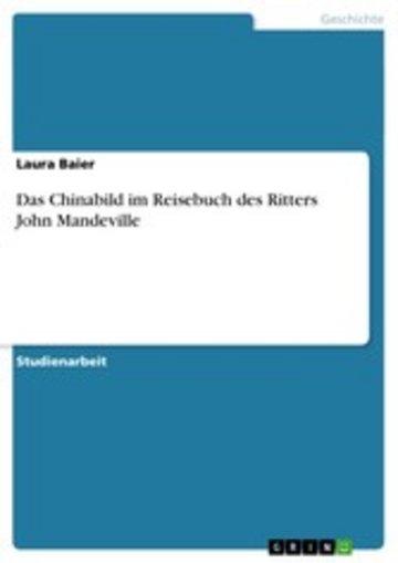 eBook Das Chinabild im Reisebuch des Ritters John Mandeville Cover