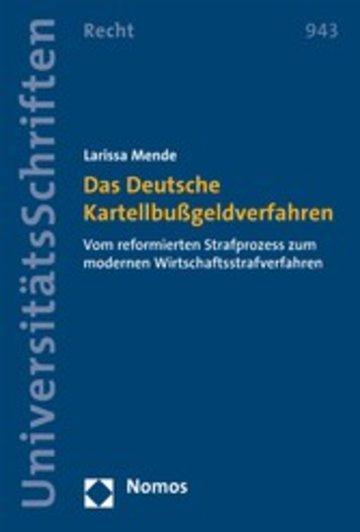 eBook Das Deutsche Kartellbußgeldverfahren Cover