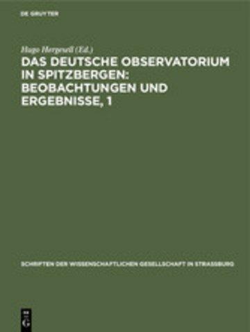 eBook Das Deutsche Observatorium in Spitzbergen: Beobachtungen und Ergebnisse, 1 Cover