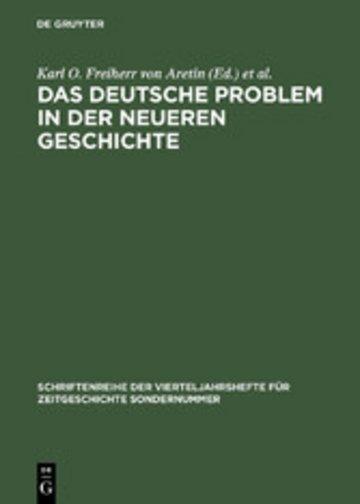 eBook Das deutsche Problem in der neueren Geschichte Cover
