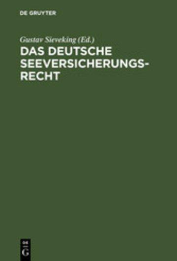 eBook Das deutsche Seeversicherungsrecht Cover
