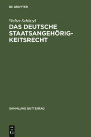 eBook Das deutsche Staatsangehörigkeitsrecht Cover