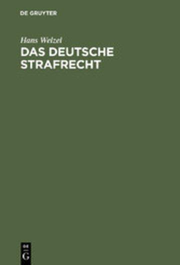 eBook Das deutsche Strafrecht Cover