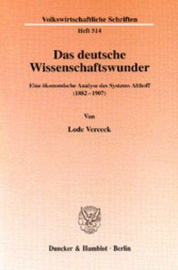 eBook Das deutsche Wissenschaftswunder. Cover