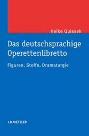 eBook Das deutschsprachige Operettenlibretto Cover