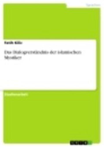 eBook Das Dialogverständnis der islamischen Mystiker Cover