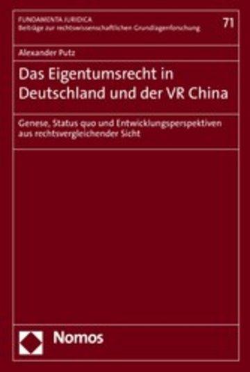 eBook Das Eigentumsrecht in Deutschland und der VR China Cover