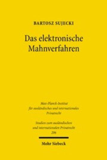 eBook Das elektronische Mahnverfahren Cover