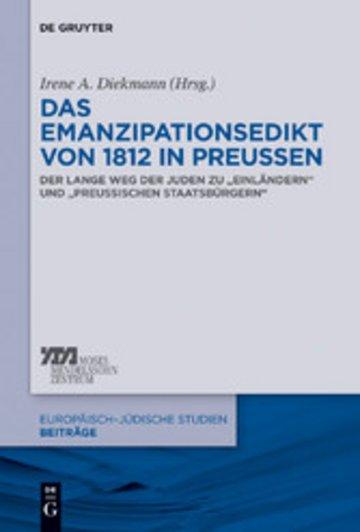 eBook Das Emanzipationsedikt von 1812 in Preußen Cover