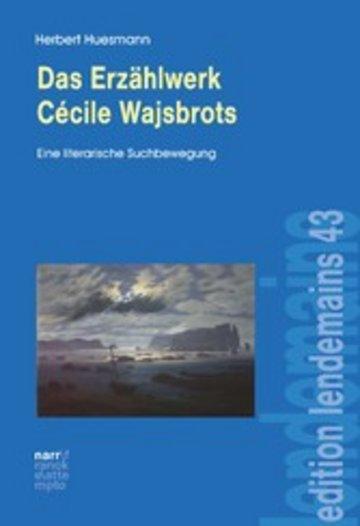 eBook Das Erzählwerk Cécile Wajsbrots Cover
