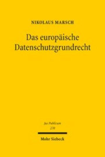 eBook Das europäische Datenschutzgrundrecht Cover