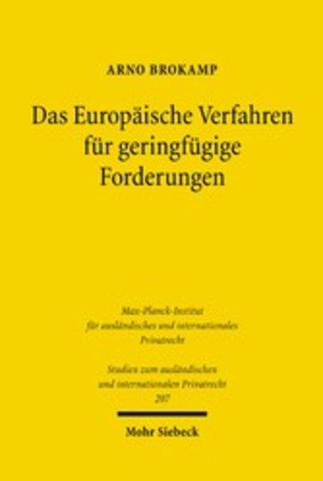 eBook Das Europäische Verfahren für geringfügige Forderungen Cover