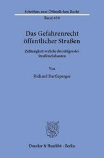 eBook Das Gefahrenrecht öffentlicher Straßen. Cover
