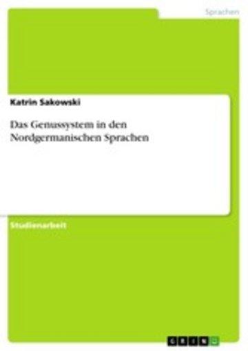 eBook Das Genussystem in den Nordgermanischen Sprachen Cover