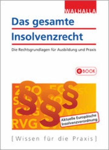 eBook Das gesamte Insolvenzrecht Cover
