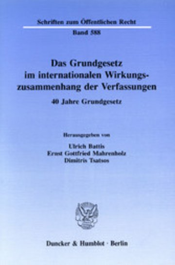 eBook Das Grundgesetz im internationalen Wirkungszusammenhang der Verfassungen. Cover