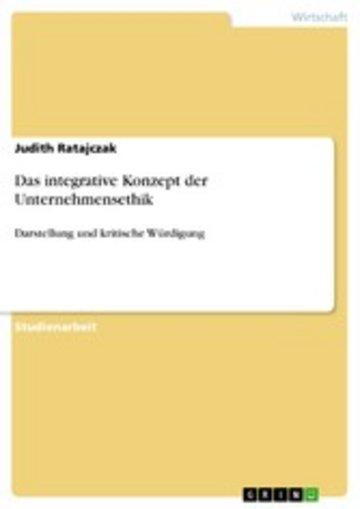 eBook Das integrative Konzept der Unternehmensethik Cover