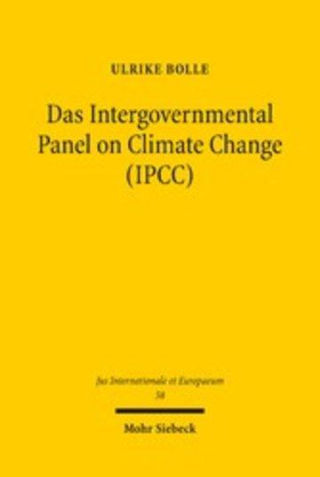 eBook Das Intergovernmental Panel on Climate Change (IPCC) Cover