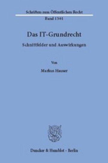 eBook Das IT-Grundrecht. Cover