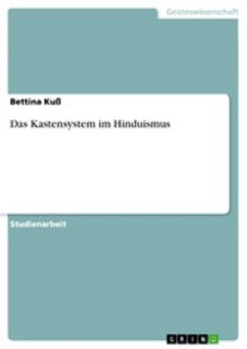 eBook Das Kastensystem im Hinduismus Cover