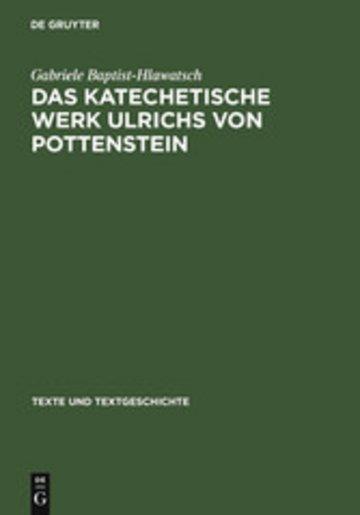 eBook Das katechetische Werk Ulrichs von Pottenstein Cover