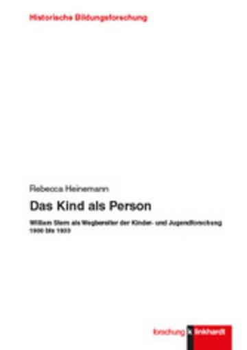 eBook Das Kind als Person Cover